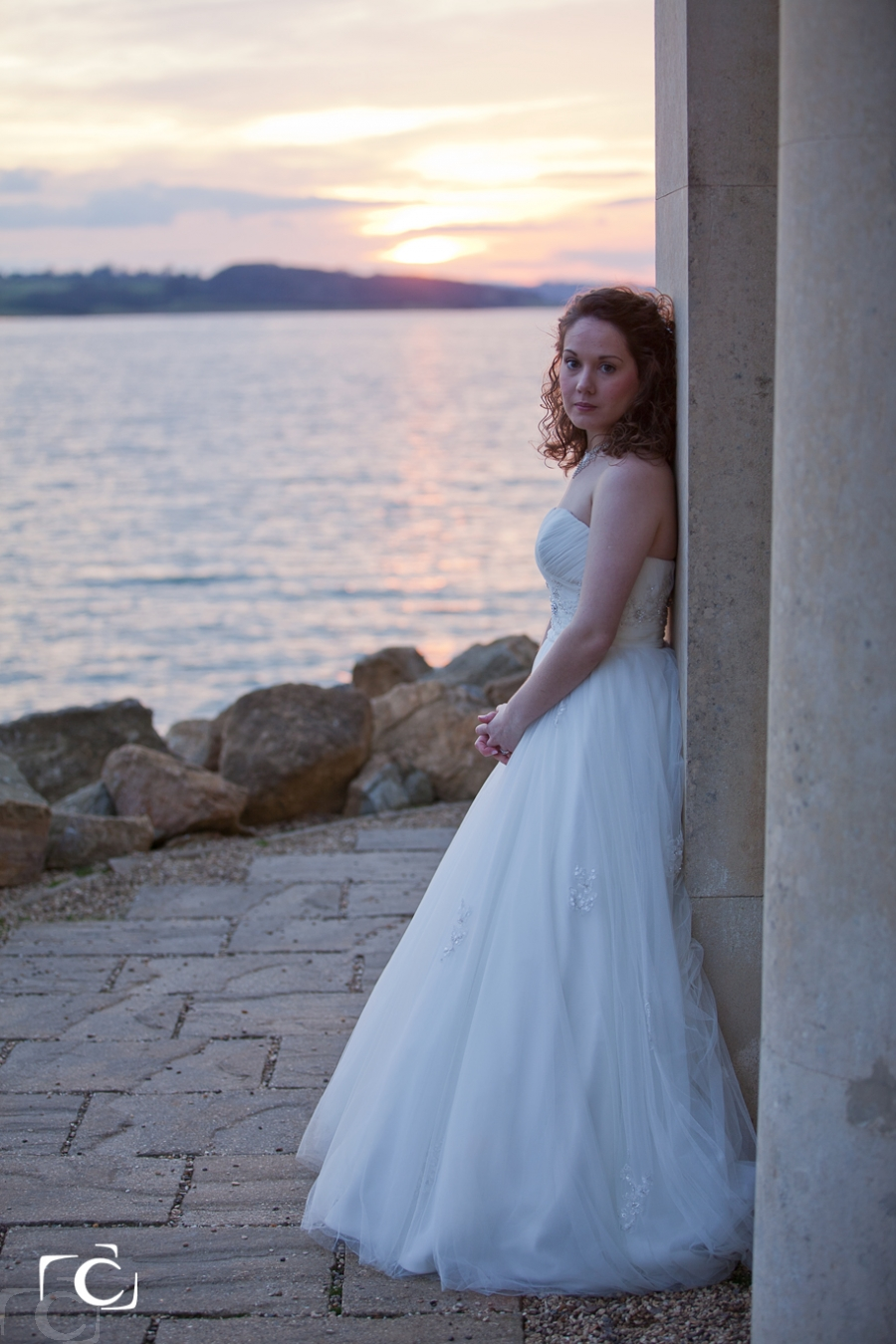 Wedding photography Bride at Normanton Church Rutland Water
