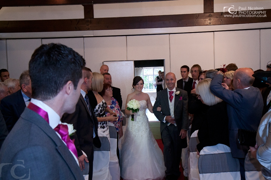 wedding ceremony at The Haycock Hotel Wansford