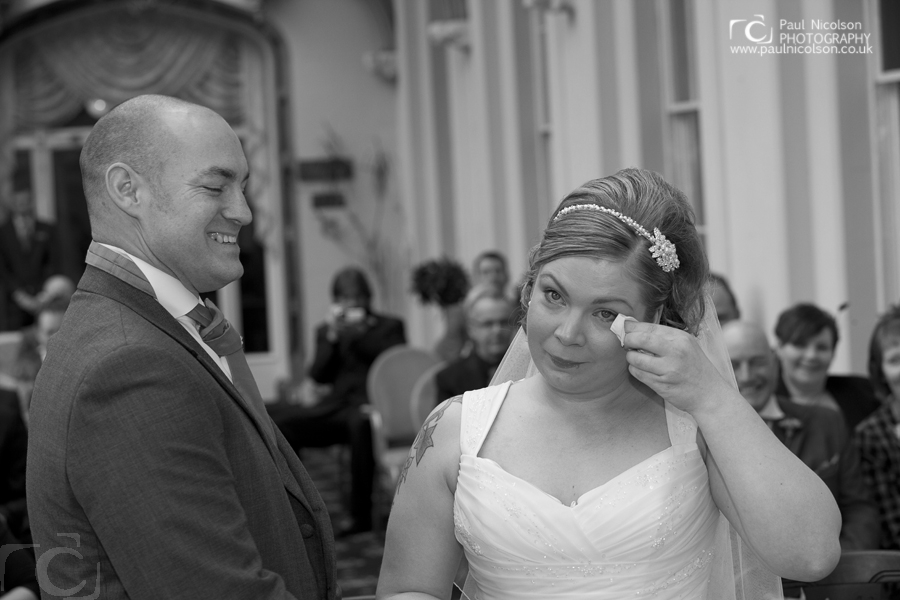 Wedding Photography Orton Hall Hotel Peterborough Bride and Groom at The Orton Hall Hotel