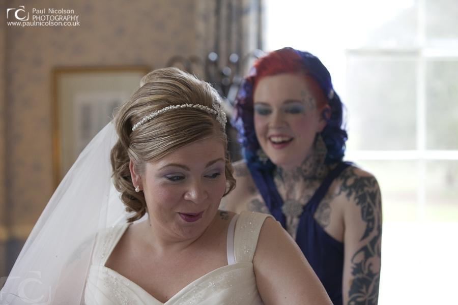 Bride and Brides Maid - wedding dress