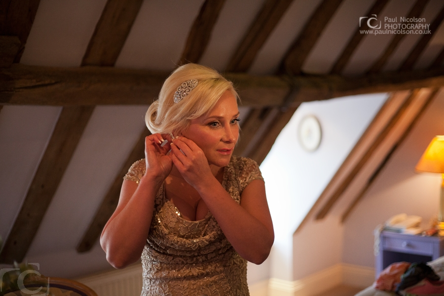 Wedding Photography - Bride getting ready at the George Hotel Stamford